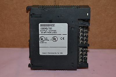 Ge Fanuc Ic693Mdl732C 12/24Vdc .5A 8Pt Output Relay Module Door/cover Missing
