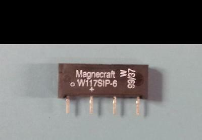 NEW LOT OF (24) MAGNECRAFT W117SIP-6 Reed Relays Mini Reed PCB SPST, 0.5A
