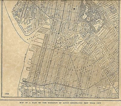 Brooklyn NY 1910 Detailed Street Map