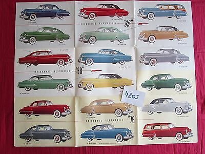N°4205 /  OLDSMOBILE rockets  ahead grand dépliant poster gamme type 76,88 et 98