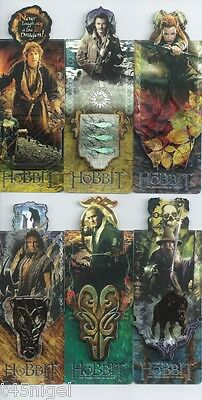 The Hobbit - The Desolation of Smaug - Magnetic Bookmarks Full Set
