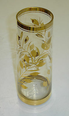 An Ornamental Glass Vase with Gold Detailing