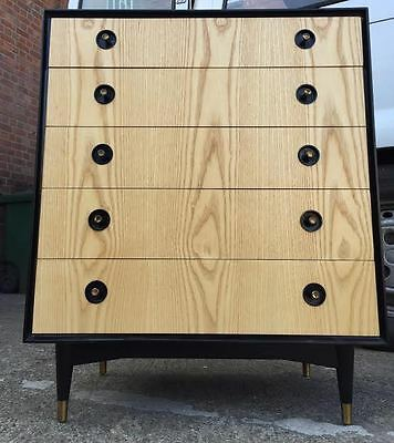 vintage chest of drawers 1950s 60s Heals italian Ponti style retro modernist
