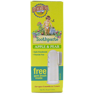 Earth's Best Kid's Toothpaste Apple & Pear 45g