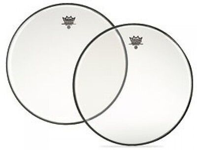 """Remo Ambassador Clear Tom/Snare Heads - 6"""" - 16"""",  Free Express Delivery"""