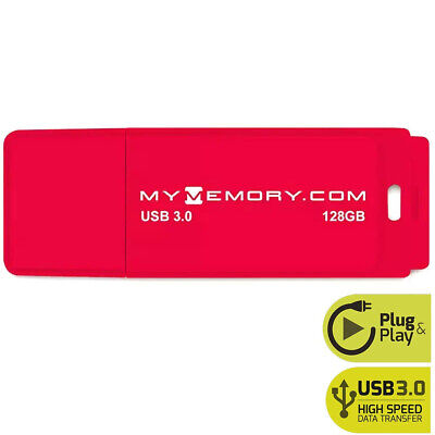 MyMemory 128GB USB 3.0 Flash Drive Memory Stick Pen Thumb - Red