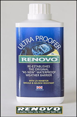 "Renovo Canvas Soft Top Hood "" Ultra Proofer "" 500Ml For Cabriolet"