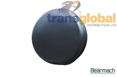 """Land Rover Discovery Plain Black Hard / Rigid Type Spare Wheel Cover - 750 x 16"""""""
