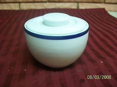 "BLOCK SPAL PORTUGAL  PORTO BLUE 3"" SUGAR BOWL WITH LID PREOWNED"