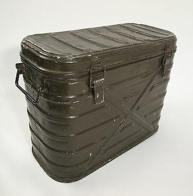 Antique Vintage Army Military Insulated Food Container Cooler Storage Metal Box