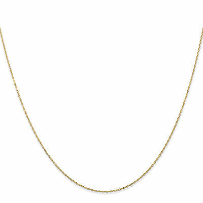 """14K Yellow Gold 0.85mm Solid Carded Cable Rope Chain 16 - 24"""""""