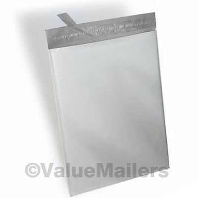 1000 - 10x13 Poly Bags White Plastic Shipping Mailers Envelopes Self Seal Bag