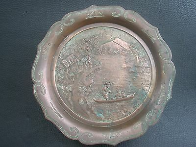 Antique asian Bronze Centerpiece signature to identify Vietnam, Indochine, Hanoï