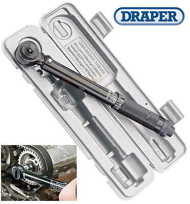 "DRAPER BLACK 3/8"" Square Drive Calibrated Ratchet Torque Wrench,10 To 80Nm,64534"