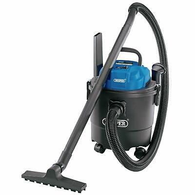 Draper 15L 1250W 230V Wet & Dry Vacuum Vac Hoover Cleaner, Accessories 90107