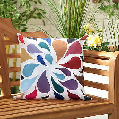 Droplets Multicolour Waterproof Outdoor Scatter Garden Filled Cushion Printed