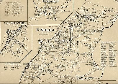 Fishkill Wappingers Falls NY 1867 Map with Homeowners Names Shown
