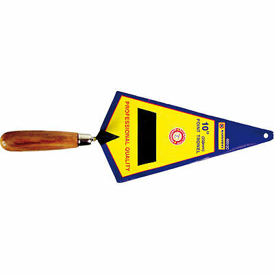 """High Quality 10"""" 250Mm Point Bricklayer Trowel Wooden Handle Garden Tools New"""