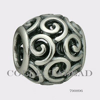 Authentic Pandora Sterling Silver Ocean Breeze Bead 790896