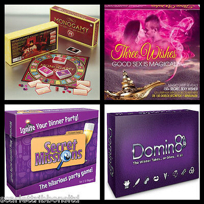 Monogamy Board Game Adult | Three Wishes Adult | Domin8 | After Dinner Party New