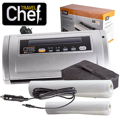 Chef 12V & 240V Vacuum Sealing Sealer Machine Food Storage Packaging Cryovac