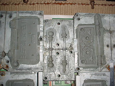 """Investment casting lost wax molds for Antique Hinges 4"""" x 4"""" Ball & Steeple tips"""