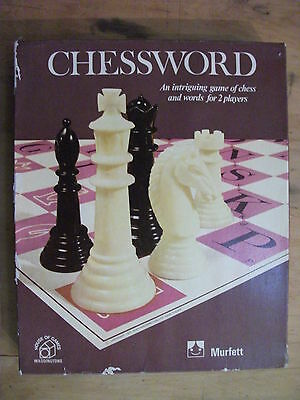 Chessword - An Intriguing Game of Chess & Words 1972 Vintage Chess Variant