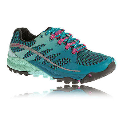 Merrell Allout Charge Womens Blue Trail Cushioned Running Sports Shoes Trainers