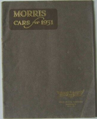 Morris 1930-31 original UK Range Sales Brochure Minor Cowley Major Oxford Isis