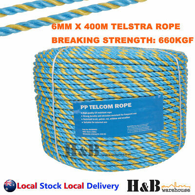 6mm x 400M Telstra Rope Parramatta Rope Coils Breaking Strength 595KG T0245