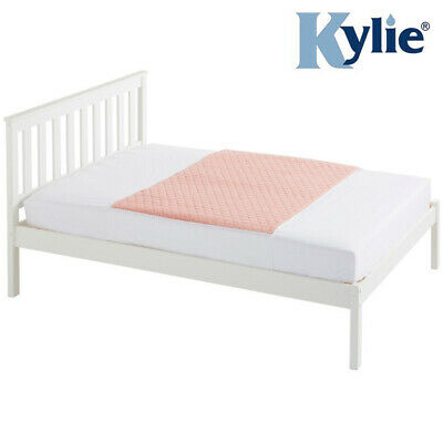 Kylie Double Bed Pad - Pink - 4 Litres - Absorbent Bed Protection