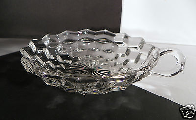 Fostoria Early American Nappy 5-1/2 inch Crystal Glass Handled