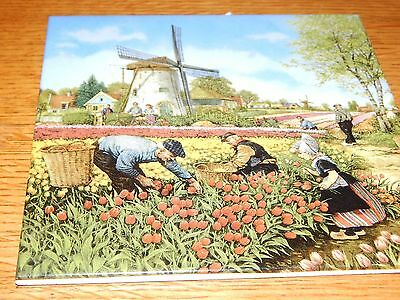 VINTAGE DUTCH TILE WINDMILLS BY TER STEEGE MADE IN HOLLAND