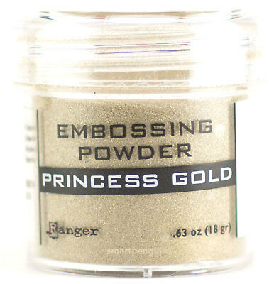 Ranger Embossing Powder Princess Gold Acid Free Non Toxic Rubber Stamping