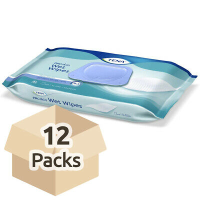 TENA Wet Wipe with Plastic Lid - Case Saver - 12 Packs of 48