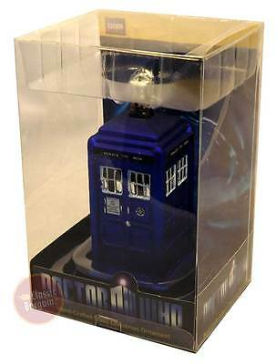 "Doctor Who - TARDIS 4.25"" Glass Christmas Ornament NEW dr who xmas decoration"