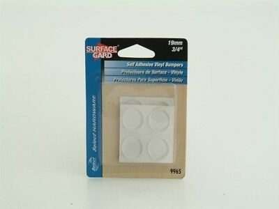 Select Hardware Round Pads Clear Vinyl 19mm X 8