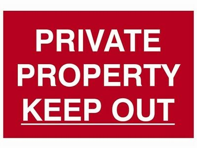 Scan Private Property Keep Out - Pvc 300 X 200Mm