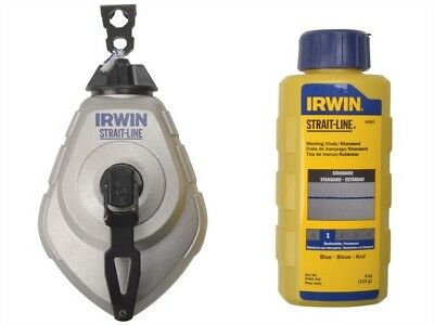 Irwin Strait-Line Hpp Chalk Reel Set & Blue 113G Chalk