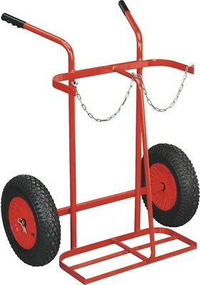 Sealey Welding Bottle Trolley with Pneumatic Tyres - 2 Bottle
