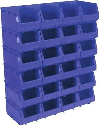 Sealey Plastic Storage Bin 148 x 240 x 128mm - Blue Pack of 24