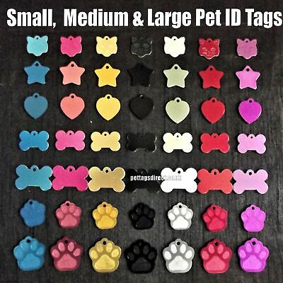 Multi-Buy (6 for £11.99) - Coloured Pet DOG/CAT Engraved ID Tags Deep Engraving