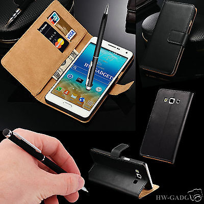 Genuine HandMade Real Leather Wallet Flip Case Cover for Samsung Galaxy Phones