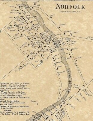 Norfolk Madrid Raymondville NY 1865 Maps with Homeowners Names Shown