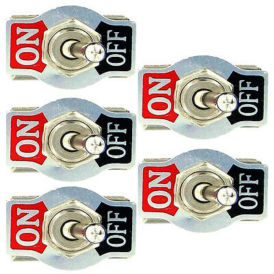 5Pcs Heavy Duty 20A 125V 15A 250V SPST 2 Pin ON/OFF Rocker Toggle Switch Sales