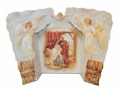 Victorian 3D Turn Of The Century Christmas Card Nativity Pop-Up Greeting  #Pop10