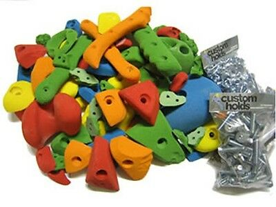 Children's Climbing Holds. Garage set. 68 SMALL, MEDIUM & LARGE HOLDS