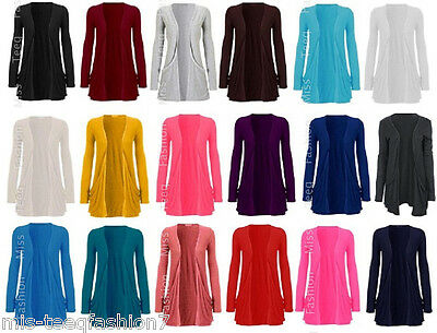 Womens Maternity Pocket Long Sleeve Cardigan Top Size 8-26
