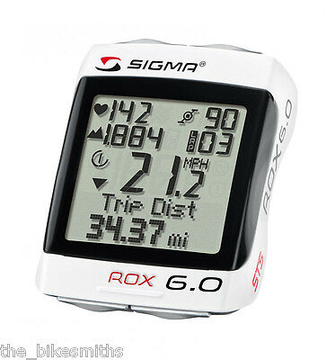 Sigma ROX 6.0-CAD Wireless CADENCE Computer Heart Rate Monitor Altimeter Hiking