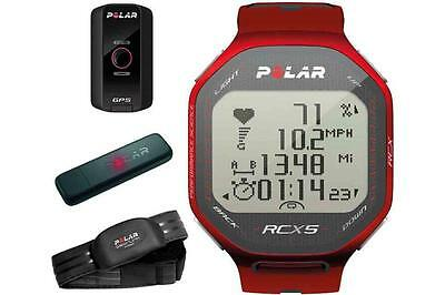 Polar RCX5 RED GPS Edition HRM Heart Rate + Speed & Distance Watch 90042075